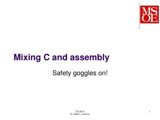 Mixing C and assembly
