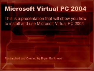Microsoft Virtual PC 2004