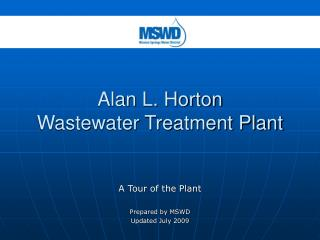 Alan L. Horton  Wastewater Treatment Plant