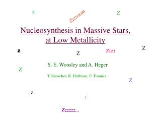 Nucleosynthesis in Massive Stars, at Low Metallicity