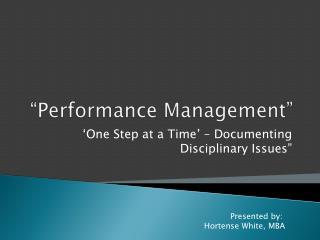 """Performance Management"""