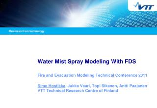 Water Mist Spray Modeling With FDS