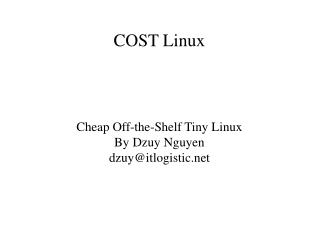 COST Linux