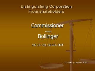 Distinguishing Corporation  From shareholders