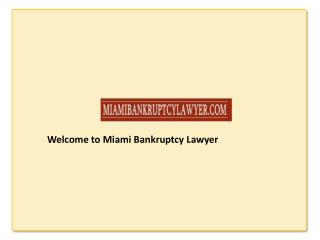 Miami Bankruptcy Lawyers & Attorneys