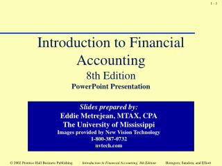 Introduction to Financial Accounting 8th Edition PowerPoint Presentation