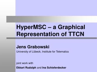 HyperMSC – a Graphical Representation of TTCN