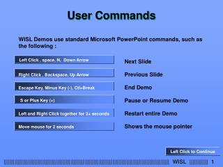 User Commands