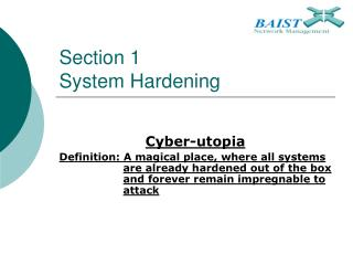 Section 1 System Hardening