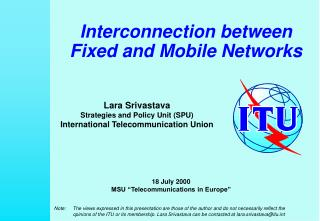 Interconnection between  Fixed and Mobile Networks