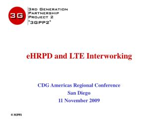 eHRPD and LTE Interworking