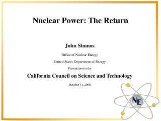 Nuclear Power: The Return