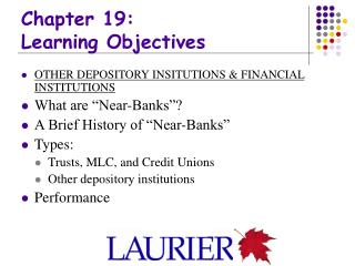 Chapter 19: Learning Objectives