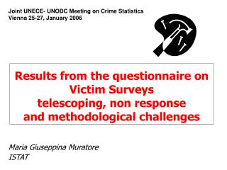 Results from the questionnaire on Victim Surveys telescoping, non response  and methodological challenges