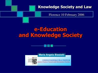 e-Education and Knowledge Society