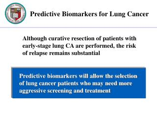 Predictive Biomarkers for Lung Cancer