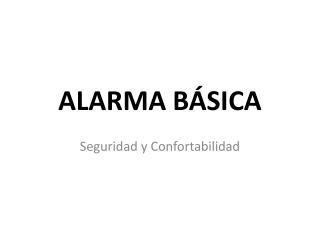 alarma básica