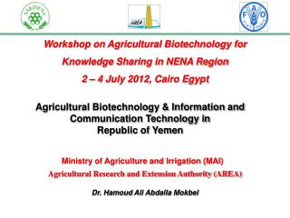 Workshop on Agricultural Biotechnology for  Knowledge Sharing in NENA Region