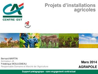 Projets d'installations agricoles