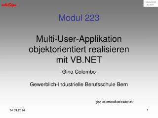 Modul 223 Multi-User-Applikation objektorientiert realisieren mit VB.NET