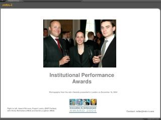 Institutional Performance Awards