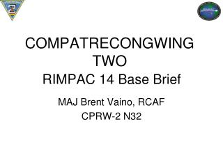 COMPATRECONGWING TWO RIMPAC 14  Base Brief