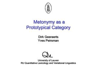 Metonymy as a Prototypical Category