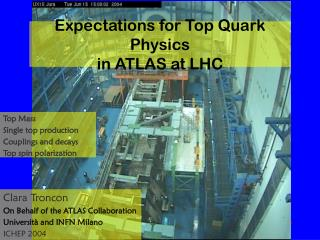 Expectations for Top Quark Physics in ATLAS at LHC
