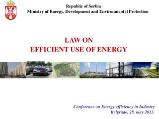 LAW ON EFFICIENT USE OF ENERGY