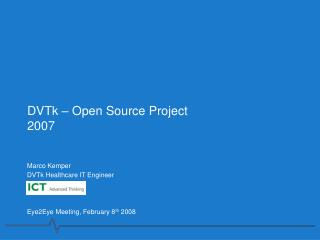 DVTk – Open Source Project 2007