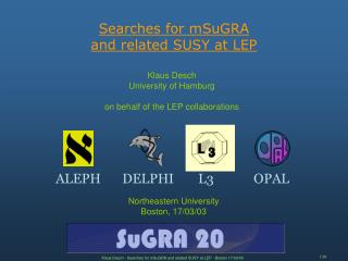 Searches for mSuGRA  and related SUSY at LEP