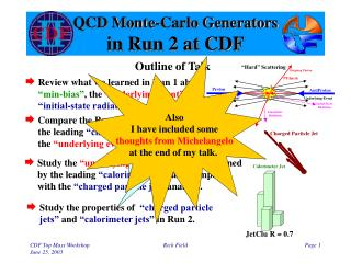 QCD Monte-Carlo Generators in Run 2 at CDF