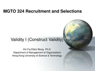 MGTO 324 Recruitment and Selections