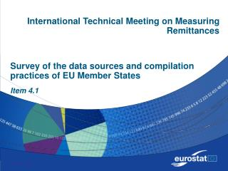 Survey of the data sources and compilation practices of EU Member States Item 4.1