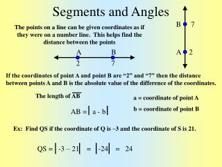 Segments and Angles