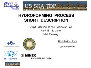 HYDROFORMING  PROCESS  SHORT  DESCRIPTION