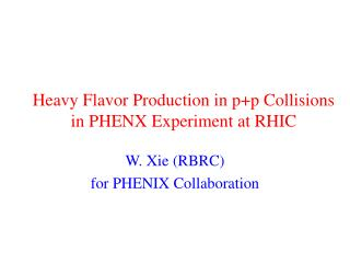 Heavy Flavor Production in p+p Collisions in PHENX Experiment at RHIC
