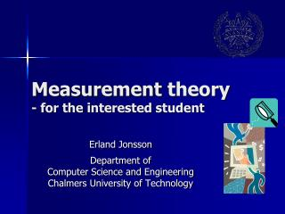 Measurement theory - for the  interested student