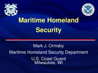 Maritime Homeland Security