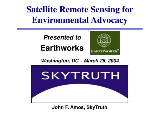 Satellite Remote Sensing for Environmental Advocacy