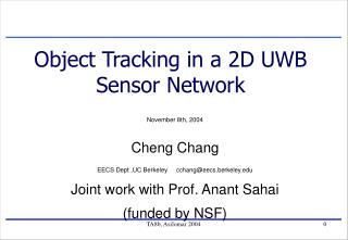 Object Tracking in a 2D UWB Sensor Network