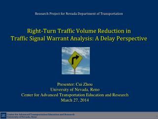 Right-Turn Traffic Volume Reduction in  Traffic Signal Warrant Analysis: A Delay Perspective