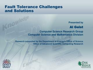 Fault Tolerance Challenges and Solutions