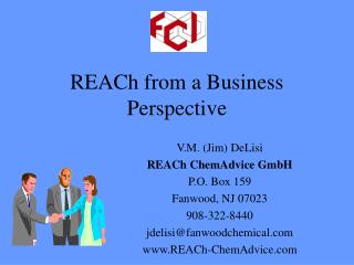REACh from a Business Perspective