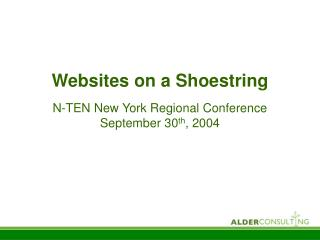 Websites on a Shoestring