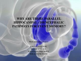 WHY ARE THERE PARALLEL  HIPPOCAMPAL - DIENCEPHALIC  PATHWAYS FOR EVENT MEMORY?