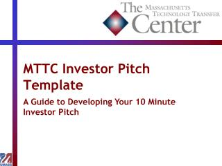 MTTC Investor Pitch Template