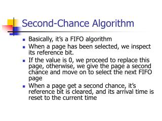 Second-Chance Algorithm