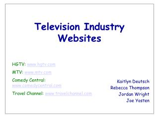 Television Industry Websites