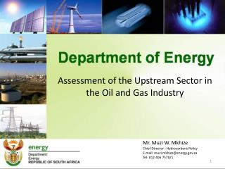 Assessment of the Upstream Sector in the Oil and Gas Industry